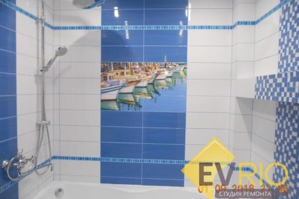 Отделка ванной комнаты декоративной плиткой