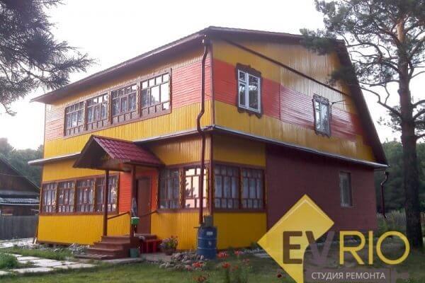 Покраска фасадной части дома
