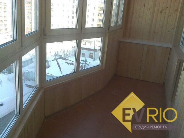 Балкон под ключ. Томск, Сибирская, 60