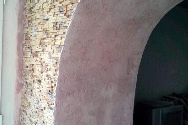 Вход на балкон в виде арки
