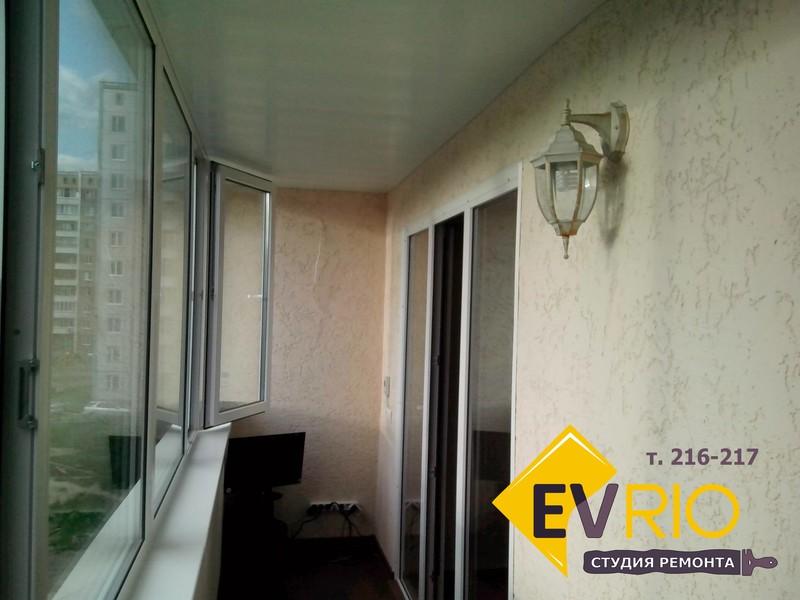 Завершенный ремонт балкона под ключ